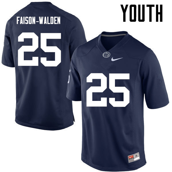 Youth Penn State Nittany Lions #25 Brelin Faison-Walden College Football Jerseys-Navy
